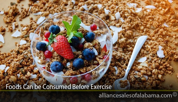Foods Can be Consumed Before Exercise